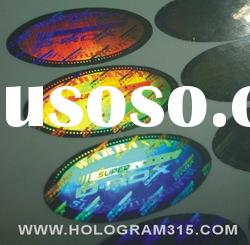 Anti-fake custom hologram textured label and sticker