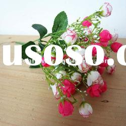 Bush rose Artificial Flower with two mix colors