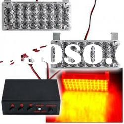 Car 22 LED Yellow/Amber Flashing Grill Strobe Light