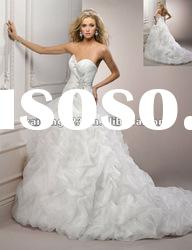 Chic Sweetheart Crystal Beaded Pick Up Ball Gown Wedding Dresses