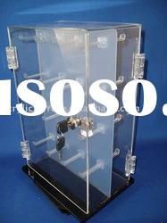 Clear Lucite Display Showcase with Lock