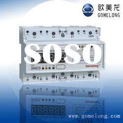 DTS5558 Three phase din rail electric energy kwh meter