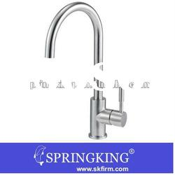 Elegant Kitchen Sink Faucet Stainless Steel High/Hi-arc pull out down