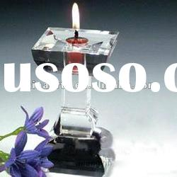 Exquisite Stemmed Crystal Candlestick for Decoration
