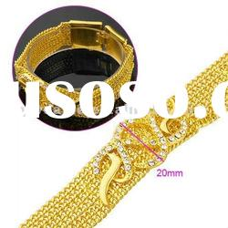 Fashion Gold Bracelet Accessories/Bracelet Gold/Crystal Charm Bracelet For Men And Women