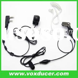 For Kenwood walkie talkie TK-250 TK-270 detachable clear tube earpiece