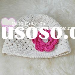 H05C001C-8 Handmade fashion Crochet Baby's knitted Hats Cotton Hat Beanie Cap