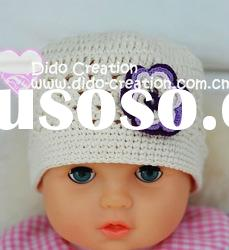 H05C011B Handmade fashion Crochet Baby's knitted Hats Cotton Hat Beanie Cap