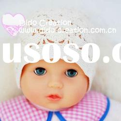 H05C032C Handmade fashion Crochet Baby's knitted Hats Cotton Hat Beanie Cap