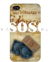 Hot Stylish Jeans Protective cover case for Apple iPhone 4 4G