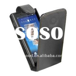 Hottest Black Flip Leather Case for Sony Ericsson Xperia X10