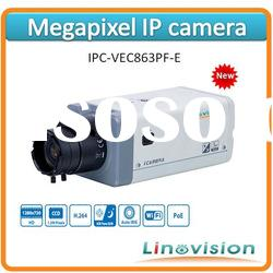 Latest 1.3 Megapixel CCD IP camera with PoE, IPC-VEC863PF-E