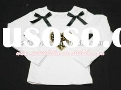 Leopard Sweet Heart White Long Sleeve Top with White Bows MATW100