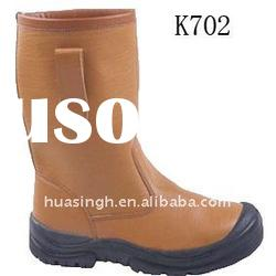 Mining safety boots with midsole and steel toe cap