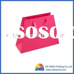New Style Paper Carrier Bag with Ribbon Handle