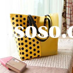 New fashion ladies yellow shoulder jelly bags handbags women