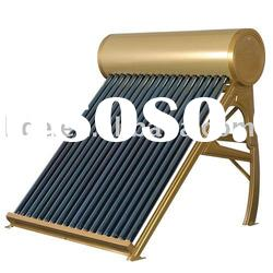 Non-pressured solar powered water heater