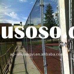 PVC Coated Diamond Wire Mesh Fence(chain link fence)