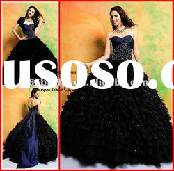 PYN2159 2012 Layered Dark Blue Sweetheart Ball Gown prom quinceanera dresses