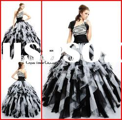 PYN2166 2012 Tiered One Shoulder Tulle Ball Gown prom quinceanera dresses
