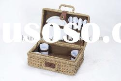Picnic Basket for 4 persons from seagrass,eco-friendly