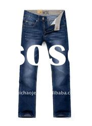 Popular 100% Cotton Top Brand Sky Blue Men Jeans Pants GZ33011