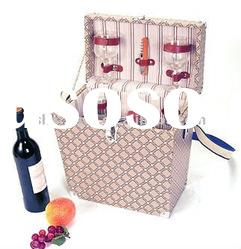 Popular wooden picnic basket for 2 persons hot sales in market