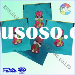 Printing aluminum foil wrappe for gift packaging with rabbit pattern