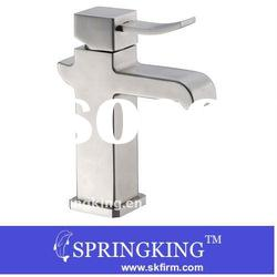 Silvery Stainless Steel Basin Tap Faucet Mixer