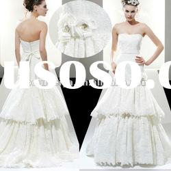 Sleeveless Ball Gown Lace Wedding Dress