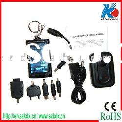 Solar cellphone charger with solar key chain for gift promotion