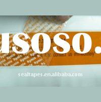 Tamper evident partial transfer adhesive tape