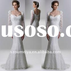 Trumpet Mermaid Long Sleeve Lace Wedding Dresses