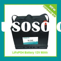 Wholesale Price 12V 60Ah LiFePO4 Electric Car Battery with BMS+Case