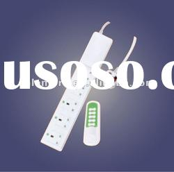 Wireless remote control switch/socket/plug power strip with energy saving