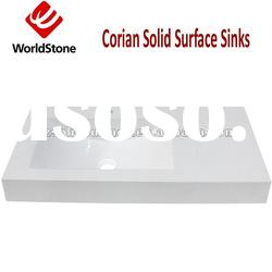 WorldStone Seamless Solid Surface Wash Basin for Bathroom(WS-900-4)