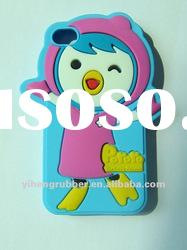 YH-FCB007 Silicone Case/Cover for iphone 4S Happy Bird Silicone Case/Cover