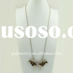 ( EX$1.76/pcs) Butterfly pendant wholesale fashion jewelry long necklace