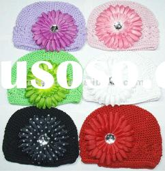 baby crochet kufi beanie hat cap girl toddler HR013
