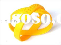 debossed or embossed silicone wristband