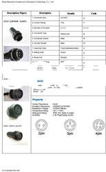 electrical auto M22 12-pin waterproof connector bulkhead terminal