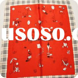 fashion christmas design scarf 100%silk printed