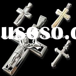 fashion cross pendant made of sterling steel