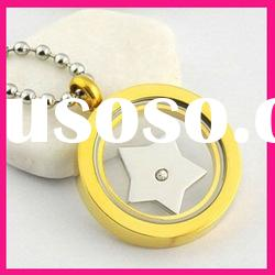 fashion gold star pendant charm ball chain necklace with clasp