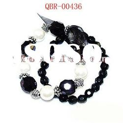 fashion handmade crystal diamond beaded stretch charm bracelets and bangles jewerly accessory