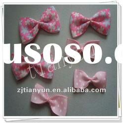 fashion handmade polyester decorative hair clips bowknot in flower