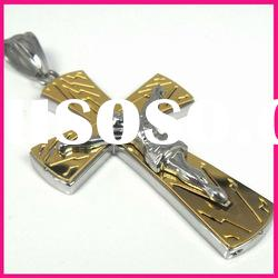 fashion stainless steel large gold christian jesus christ cross pendant