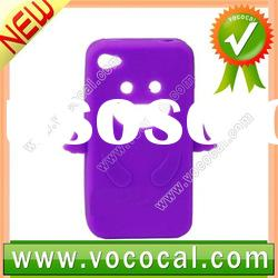 for iPhone 4S Cover,Angel Silicone Case