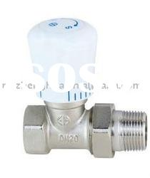 forged brass straight Radiator Valve with plastic handle