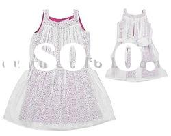 girl's dress, girl's one-piece dress,children's summer wear